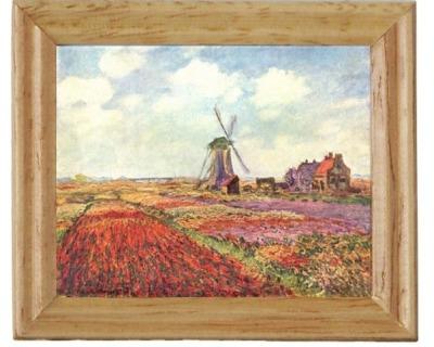 Gemäldekopien Windmühle cm im Holzrahmen für