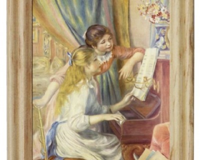Gemäldekopie Mädchen am Klavier cm im