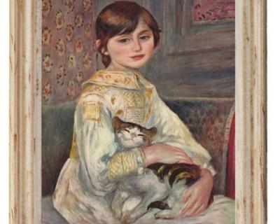 Gemäldekopie Mädchen mit Katze cm im