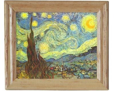 Gemäldekopie Sternennacht cm im Holzrahmen für