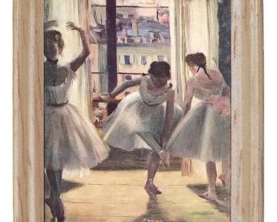 Gemäldekopie Tänzerin cm im Holzrahmen für