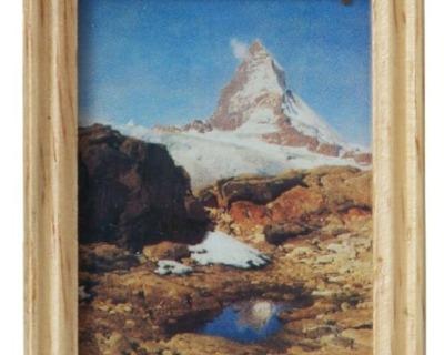 Gemäldekopie Matterhorn cm im Holzrahmen für
