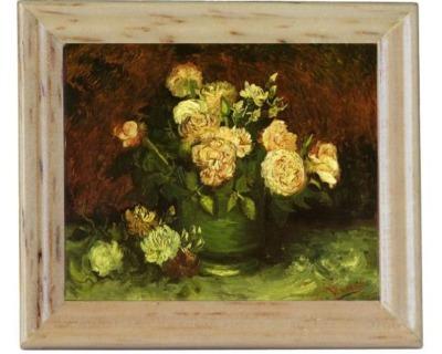 Gemäldekopien Gelbe Rosen cm im Holzrahmen