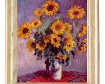 Gemäldekopien Sonnenblumen cm im Holzrahmen für