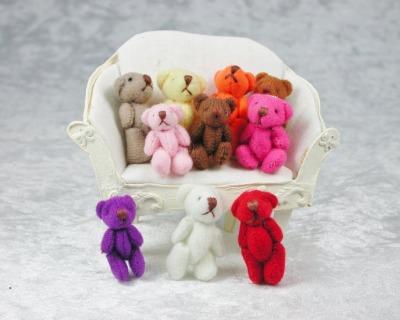 Teddy aus Plüsch für die Puppenstube