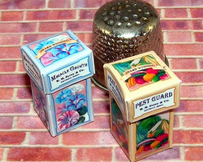 Box für Gartenprodukte Paperminis Bastelkit aus