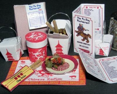 China Fastfood Bastelkit aus Papier in