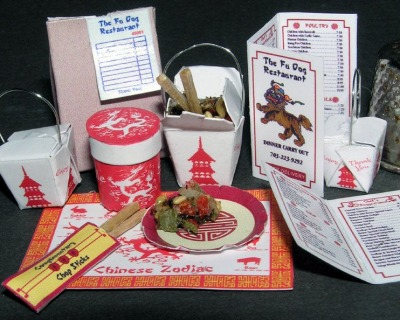 China Fastfood Bastelkit aus Papier in