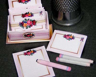 Briefpapier Blume Paperminis Bastelkit aus Papier