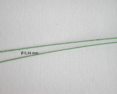 Papier umwickelter Draht in grün für