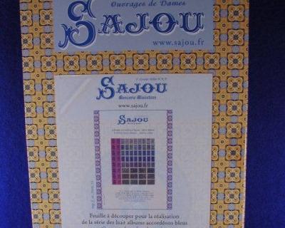 Sajou-Miniatur-Kurzwaren Sajou-Alben Lila Serie Bastelkit aus
