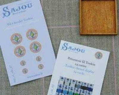 Sajou-Miniatur-Kurzwaren Display Karten Tonkin Bastelkit in