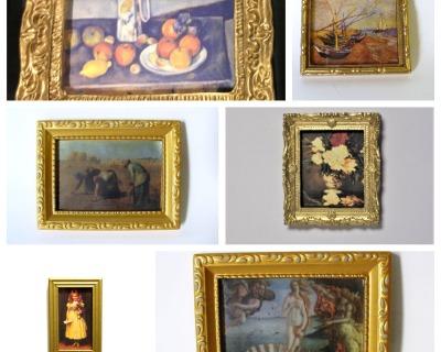 Gemälde Bild für die Puppenstube das