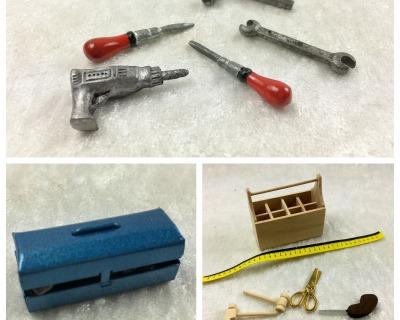 Werkzeug Werkzeugkasten Werkzeugkiste Hobel Laubsäge Hammer