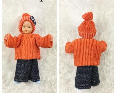 Kleinkind cm Caco Puppenstuben Biegepüppchen für