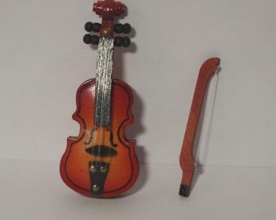Musikinstrumente für die Puppenstube Violine Banjo