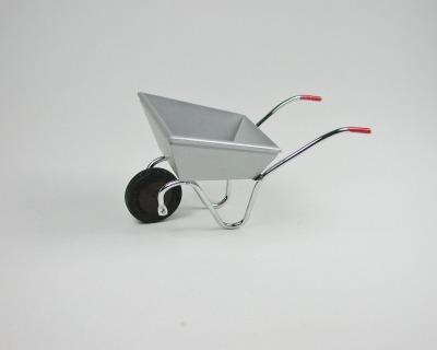 Schubkarre aus Metall für die Puppenstube