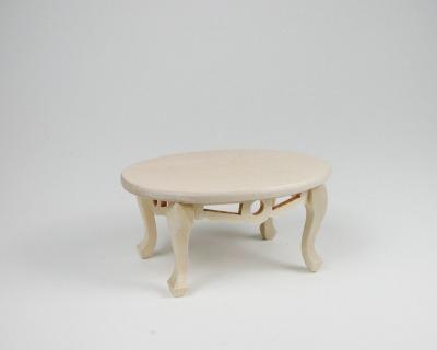 Tisch oval Couchtisch 1:12 Miniatur