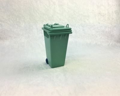 Grüne Abfalltonne Mülltonne Biomülltonne für die