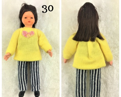 Mädchen cm Caco Puppenstuben Biegepüppchen für