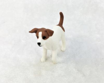 Jack Russel Terrier in Miniatur 1:12