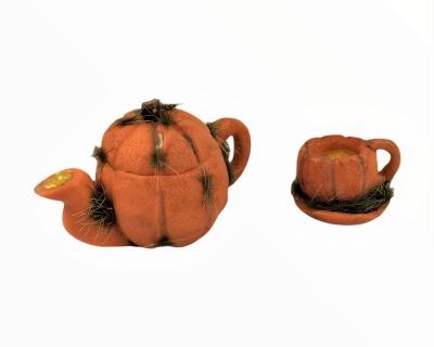 Kanne und Tasse mit Untertasse in