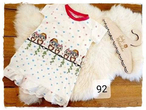Sofortkauf Handmade Kleid Eule Gr 92