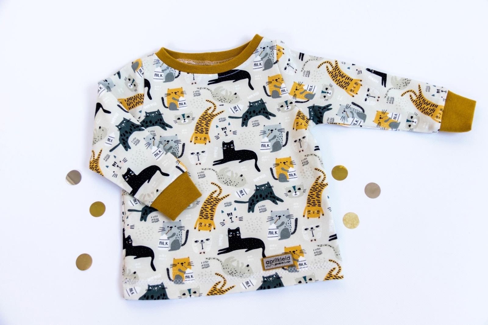 Sofortkauf Handmade Sweatshirt Katzen Gr 62