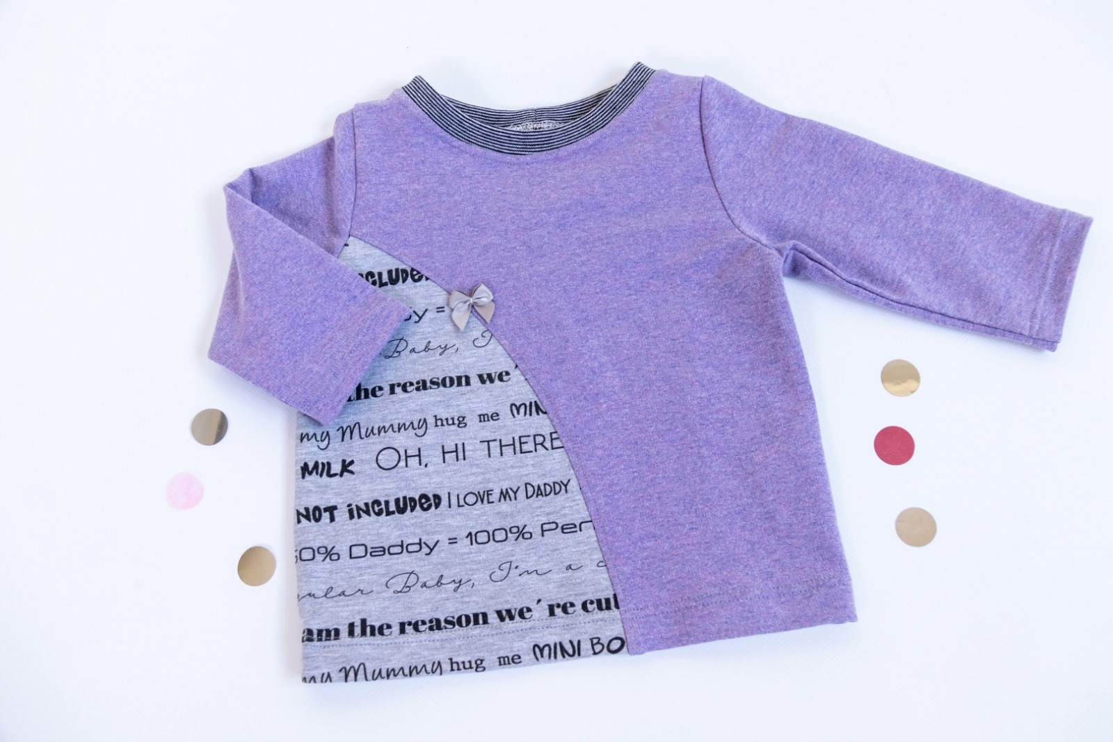 Sofortkauf Handmade Sweatshirt Lila Gr 62