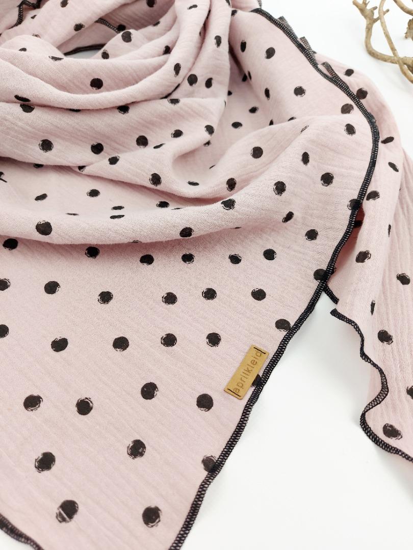Sofortkauf Handmade Musselintuch Dots Gr für
