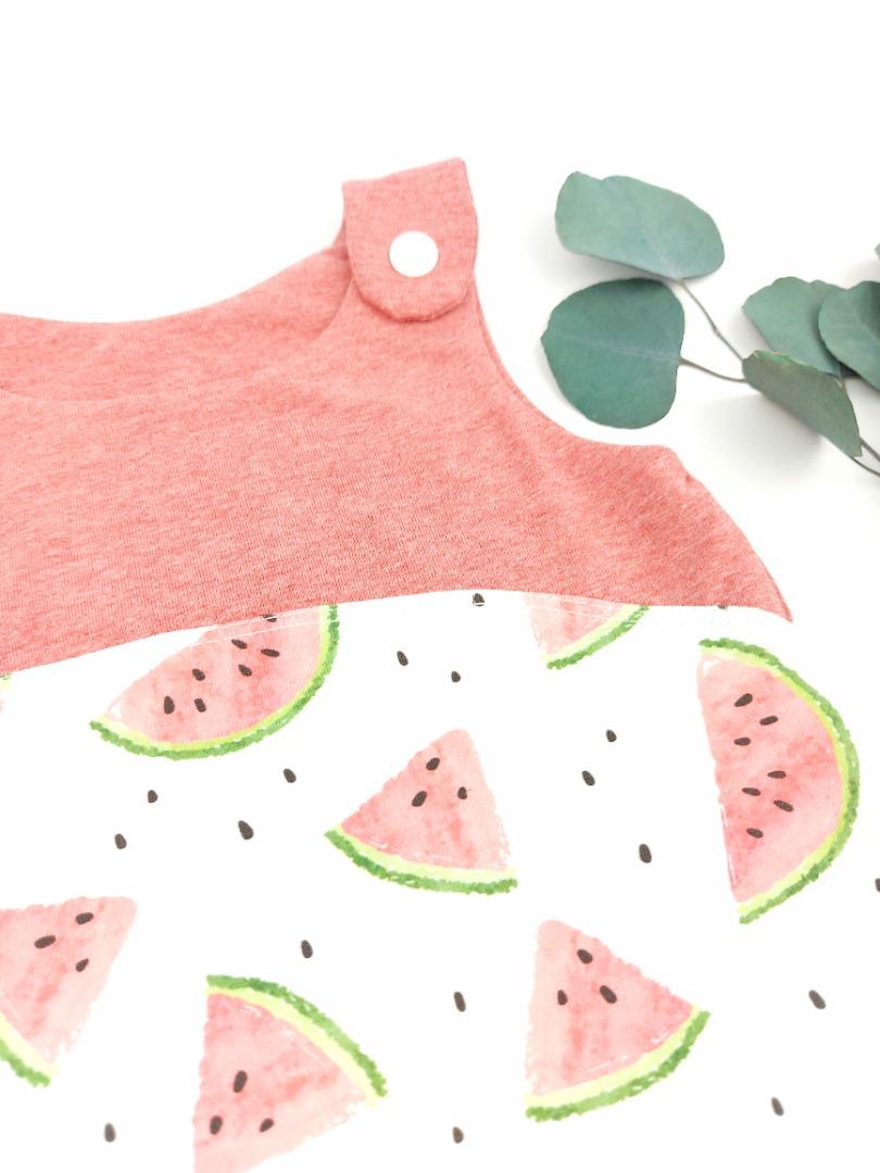 Sofortkauf Handmade Sommerstrampler Melone Gr 62/68