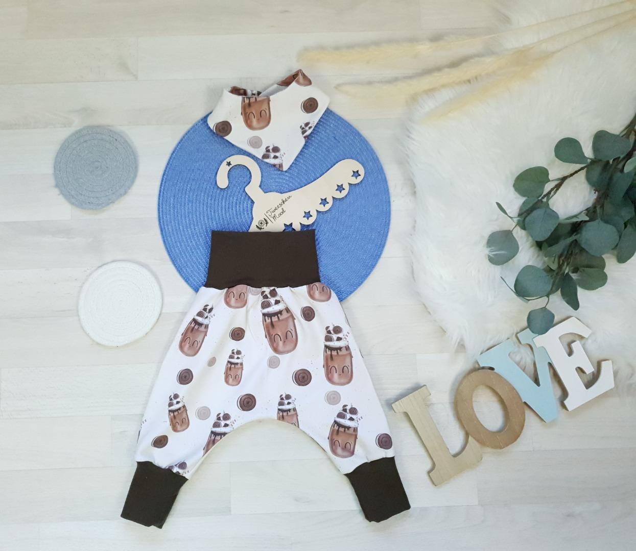Sofortkauf Handmade Set Pumphose Halstuch Schokoshake