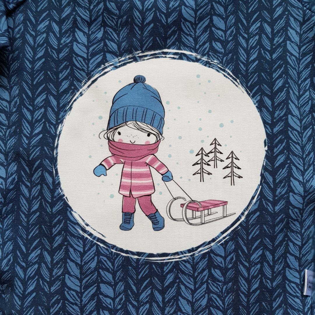 Sofortkauf Handmade Sweatshirt Kleid Winter Gr