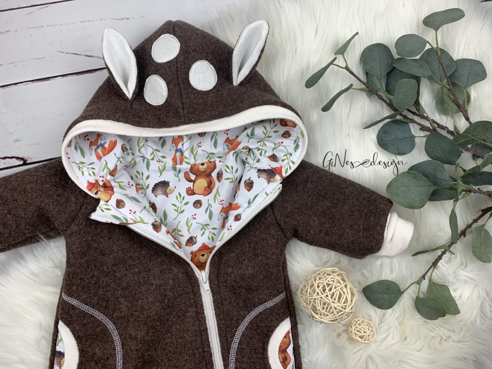 Bestellung Handmade Walklodenanzug Rehkitz von Gines