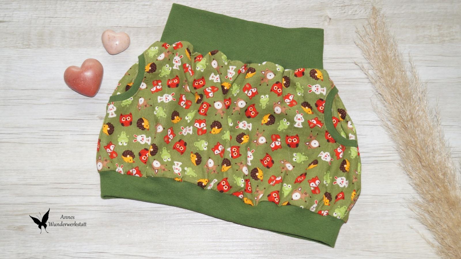 Sofortkauf Handmade Ballonrock Babykord Tiere Gr
