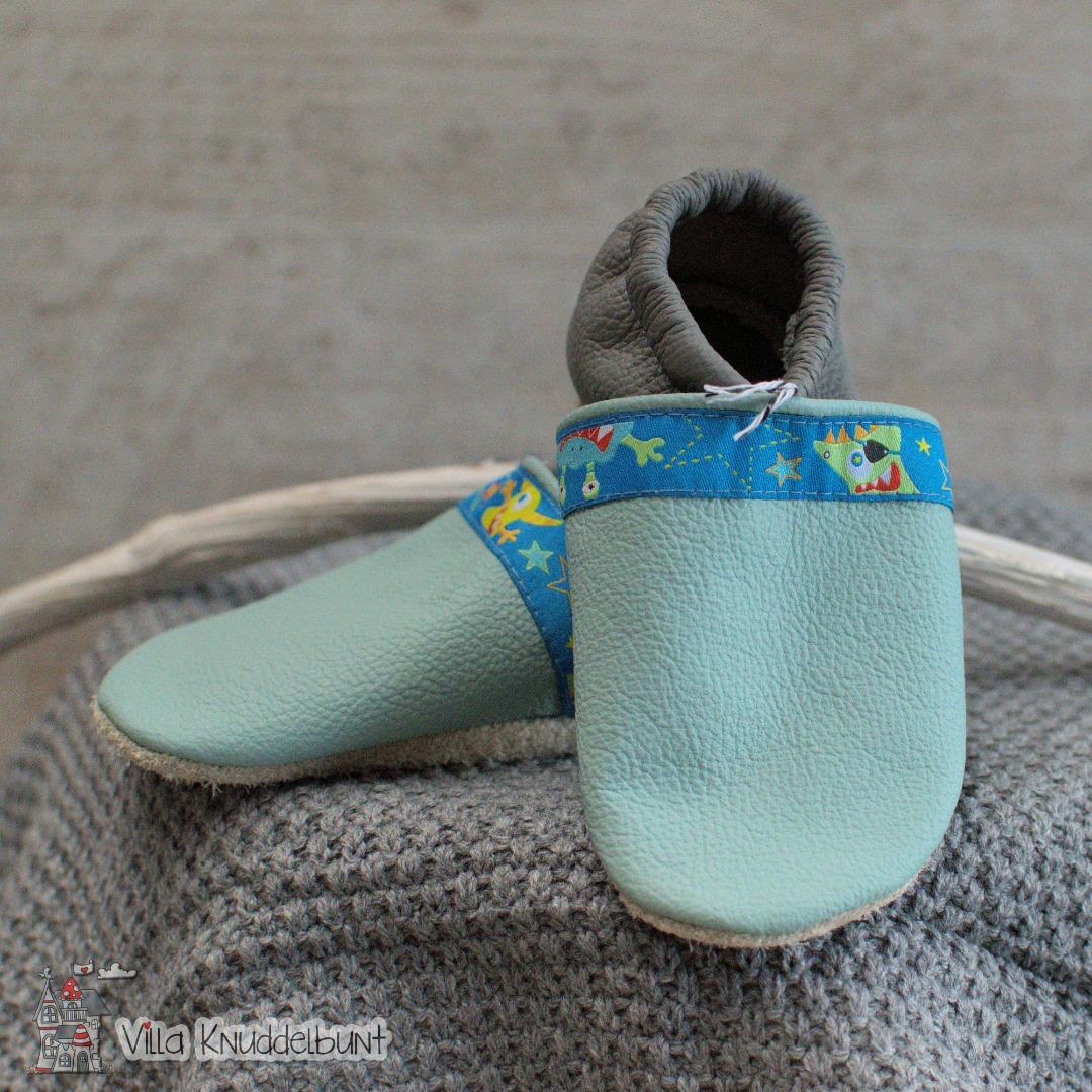 Sofortkauf Handmade Lederpuschen Gr 22/23 von