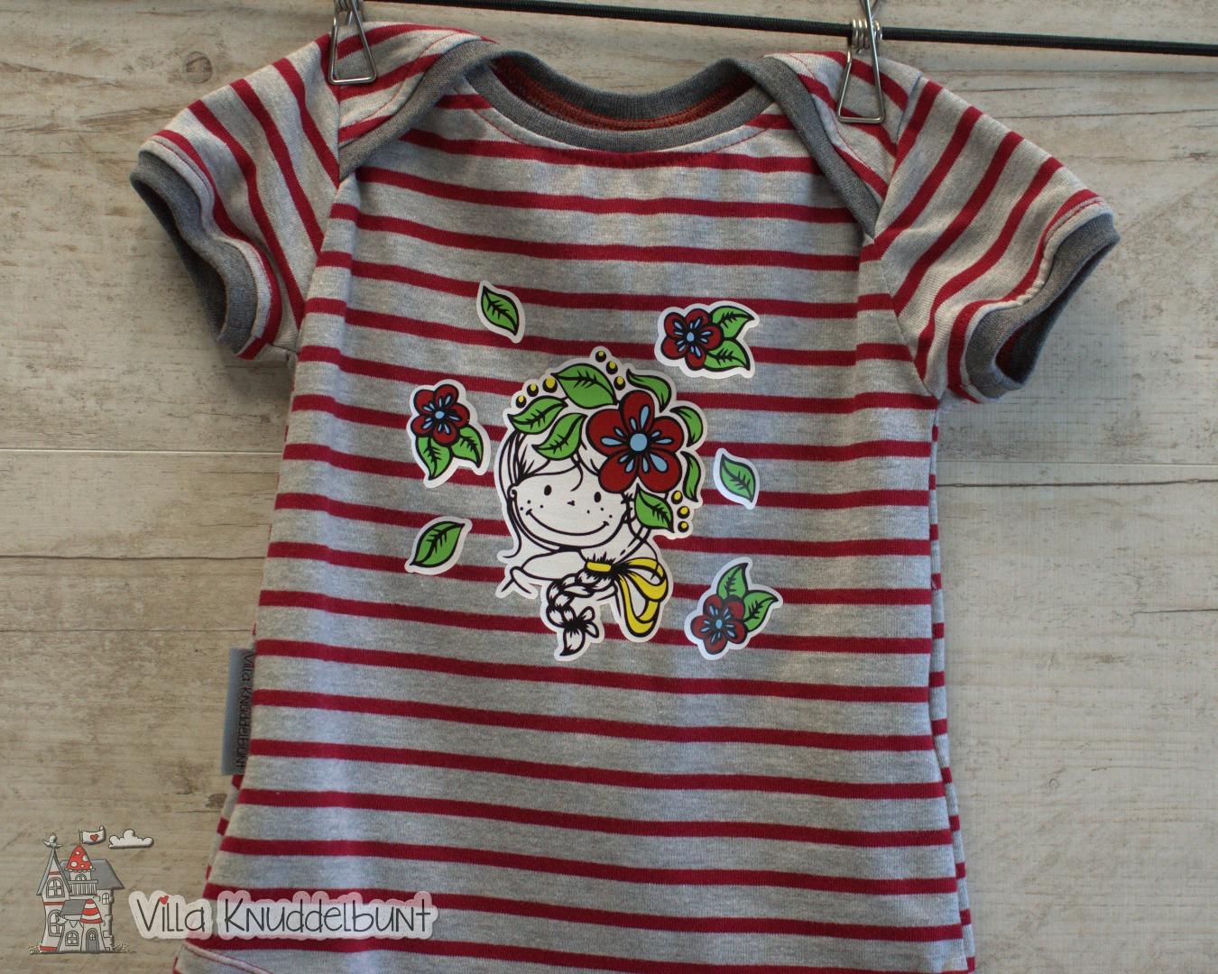 Sofortkauf Handmade Sommer T-Shirt Blumenmädchen Gr