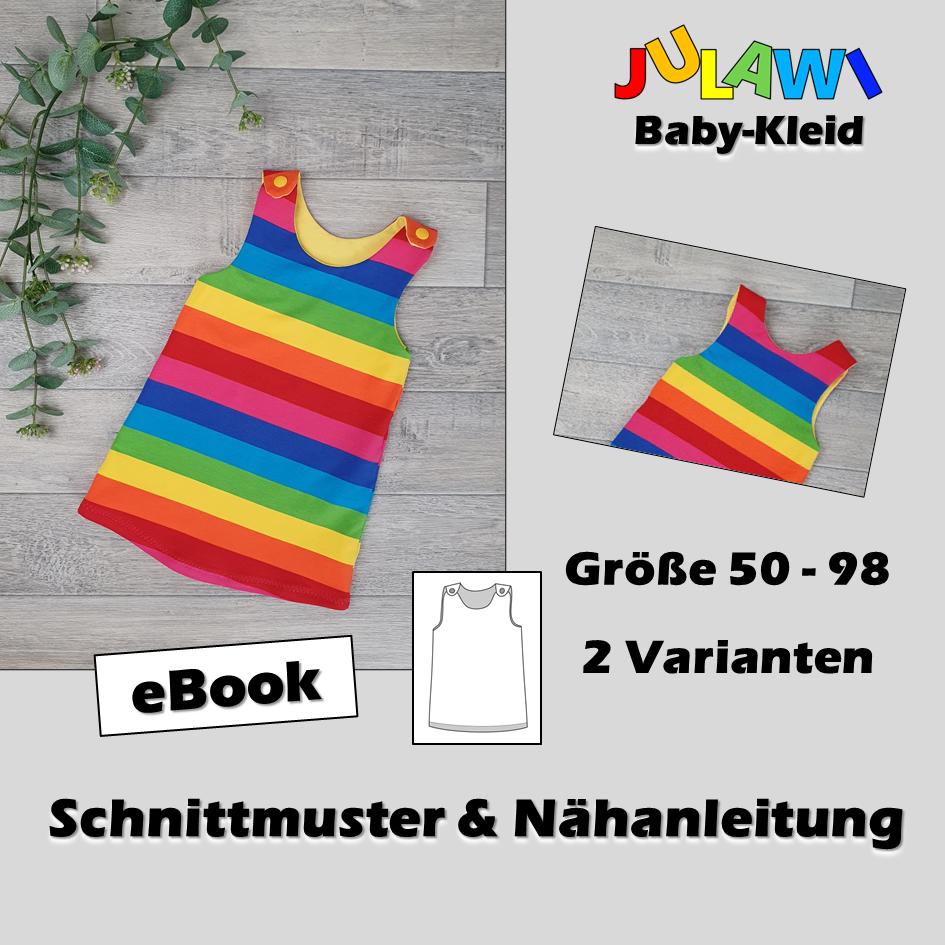 Schnittmuster/Nähanleitung Baby-Kleid Gr 50-98 JULAWI