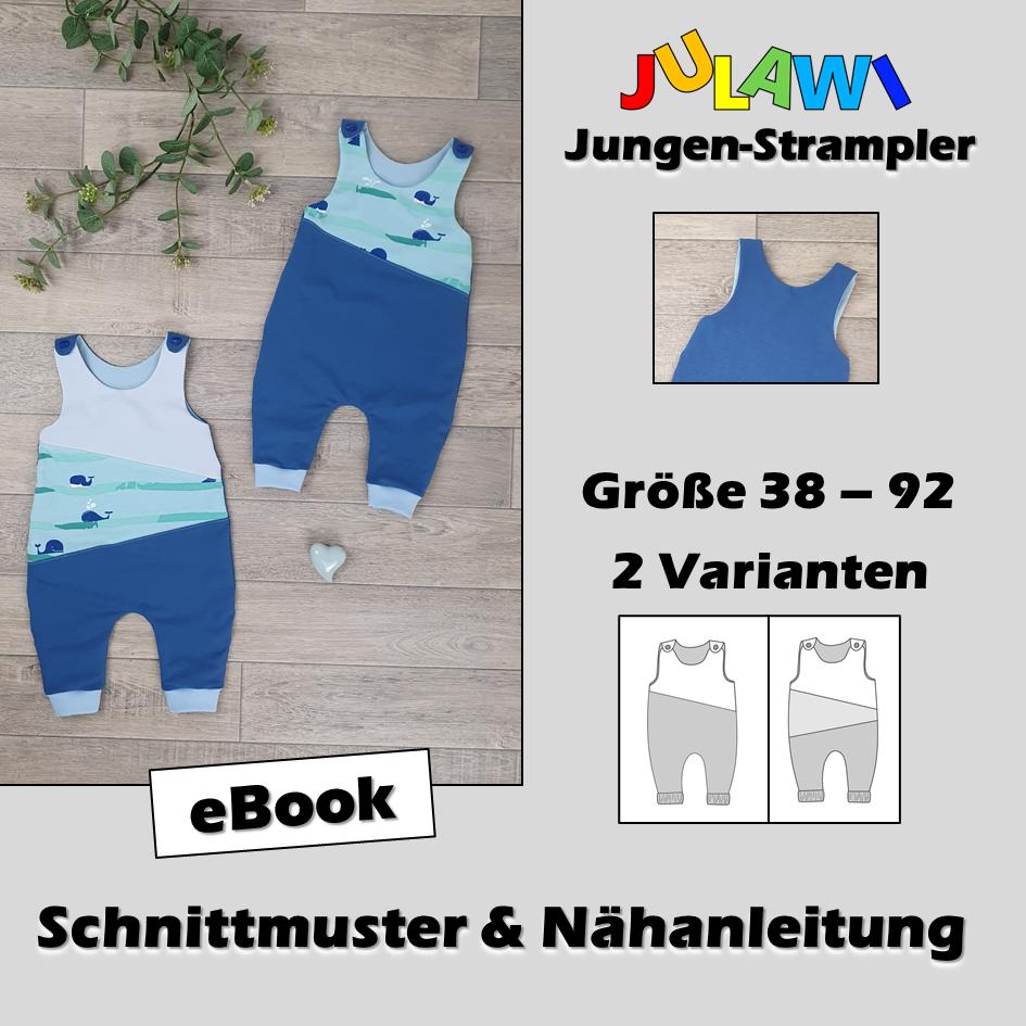 Schnittmuster/Nähanleitung Jungen-Strampler Gr 38-92 JULAWI