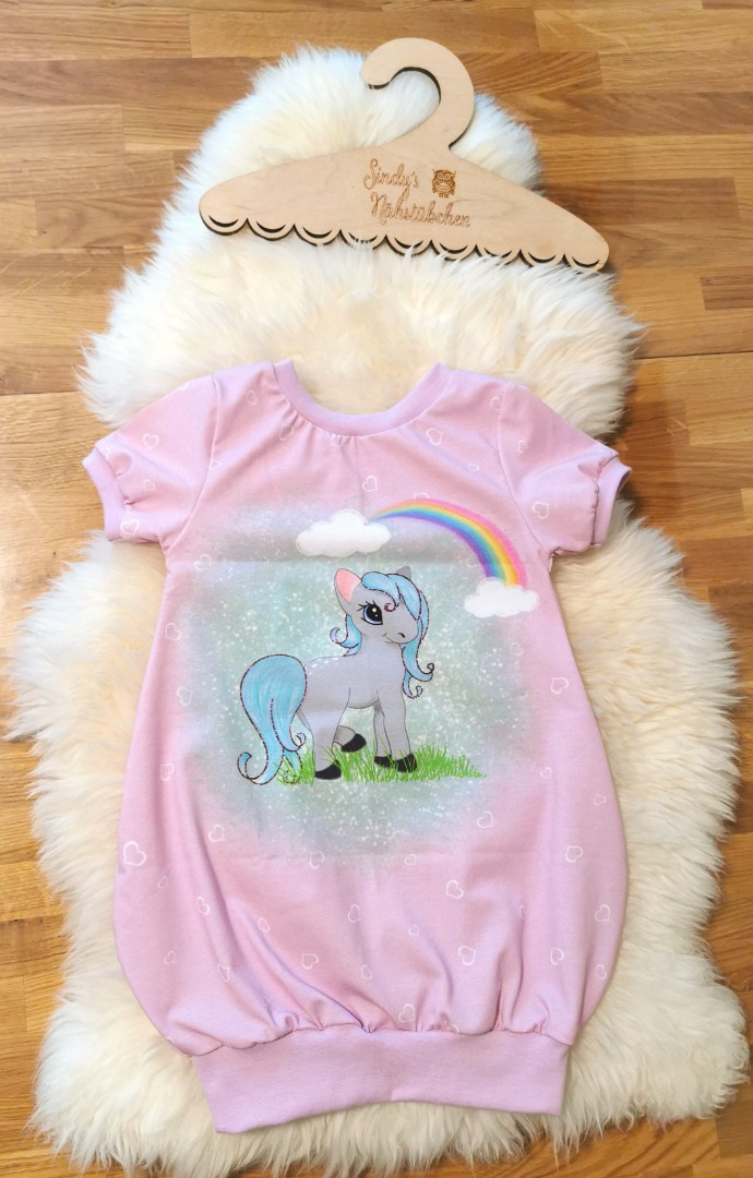 Sofortkauf Handmade Pony Ballonkleid Wendekleid Kurzarm
