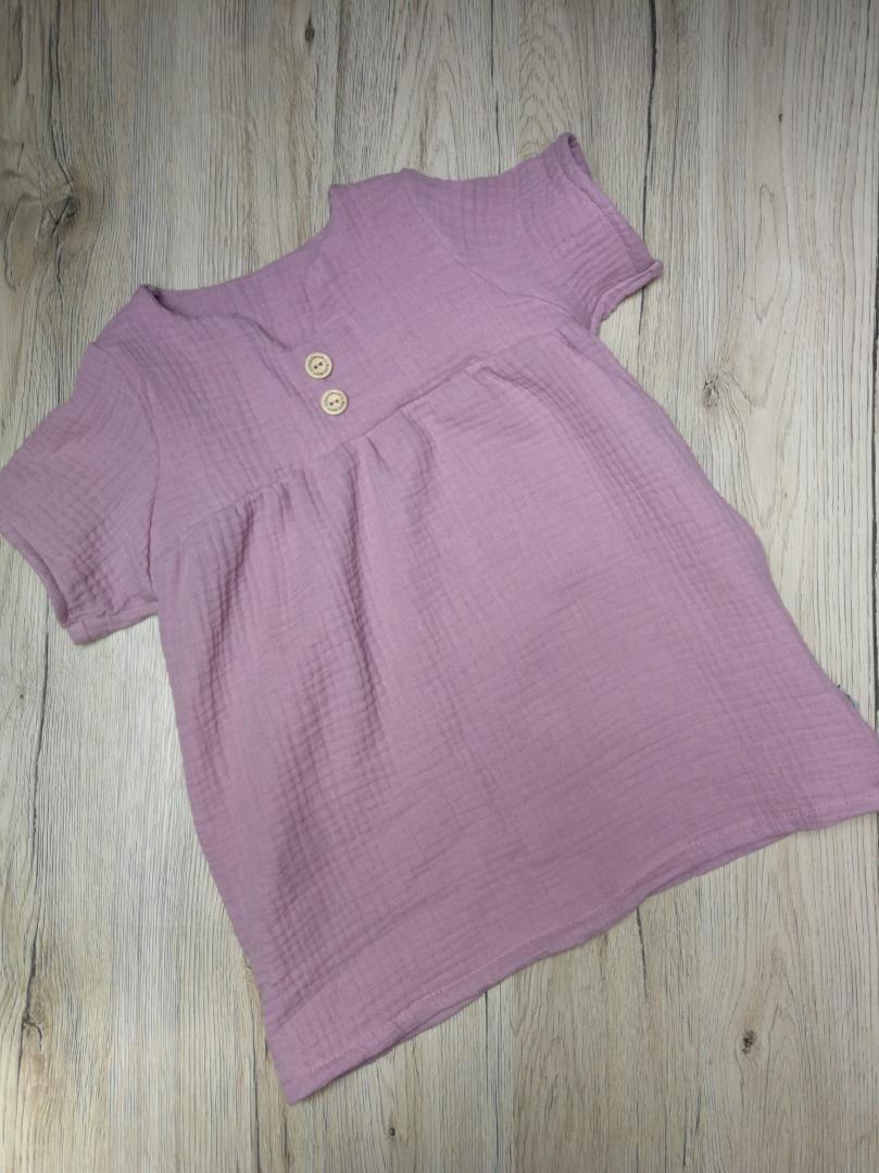 Sofortkauf Handmade Musselin Kleid/Tunika Gr 74-86