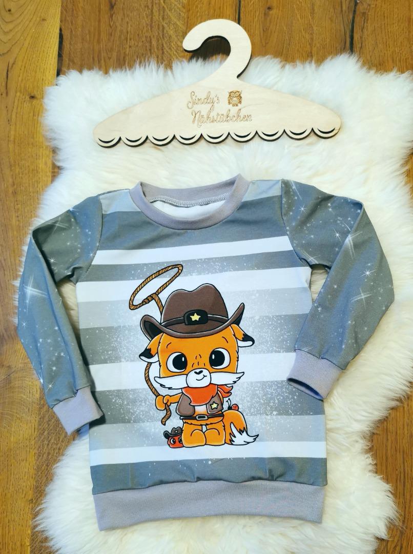 Sofortkauf Handmade Cowboy Fuchs Langarmshirt Gr