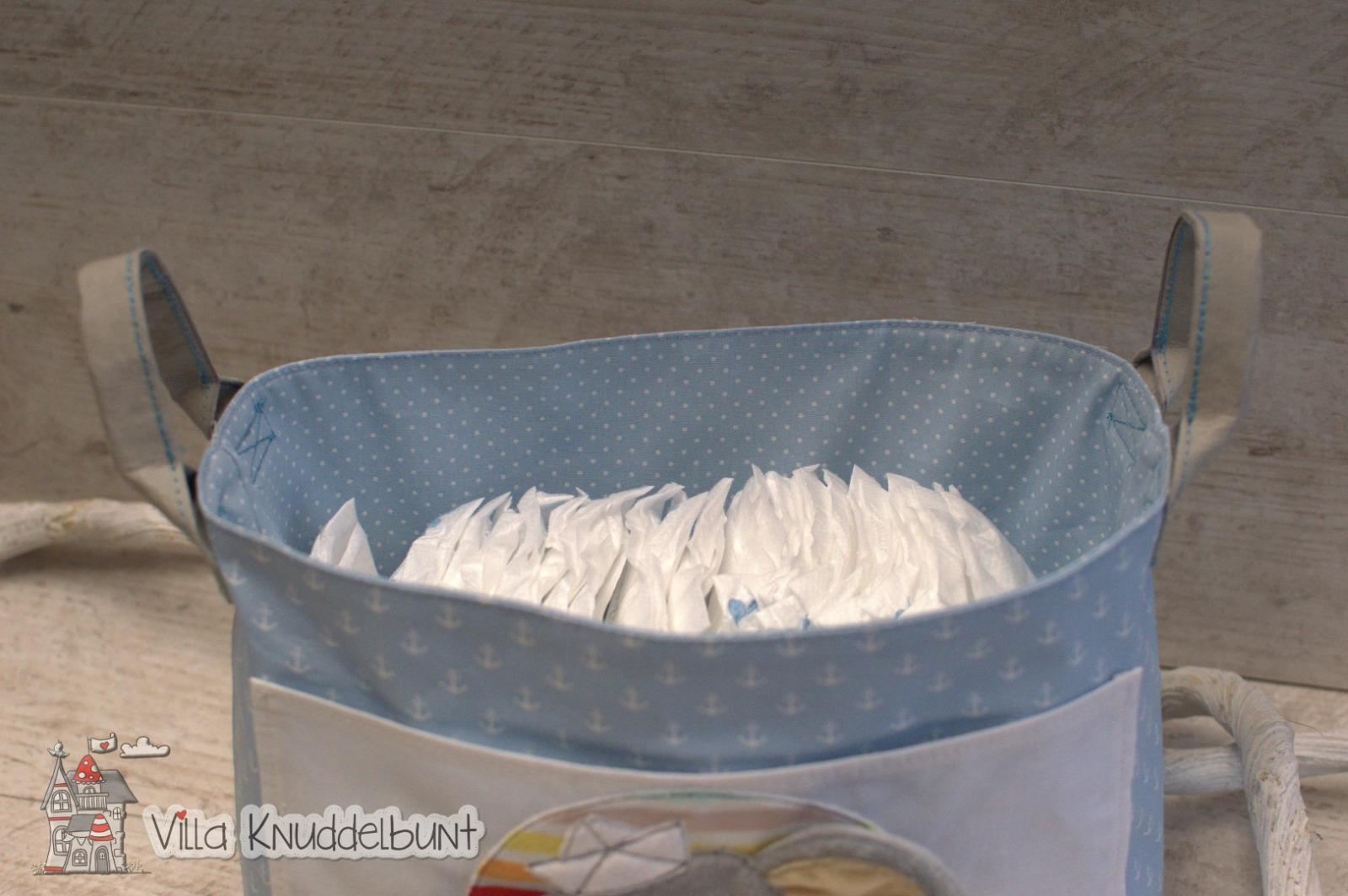 Bestellung Handmade Windelutensilo mit einem süßen