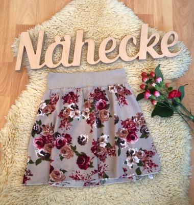 Sofortkauf Handmade Plissee-Rock A-Linie mit Blumen