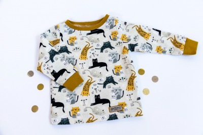 Sofortkauf Handmade Sweatshirt Katzen Gr Sweatshirt