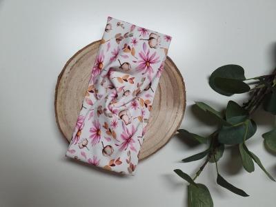 Sofortkauf Handmade Stirnband rosa Blumen Größe
