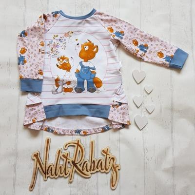 Sofortkauf Handmade Raglanshirt mit Volants Gr