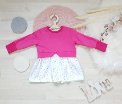Sofortkauf Handmade Girlysweater Pinke Regentropfen Gr
