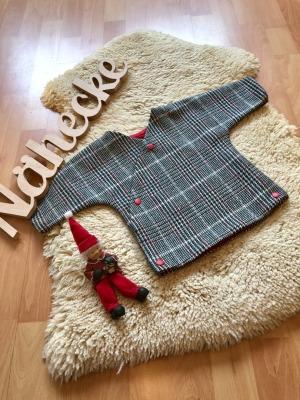 Sofortkauf Handmade klassische Karojacke aus Schurwolle