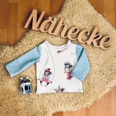 Sofortkauf Handmade Pullover mit Skimädchen Gr